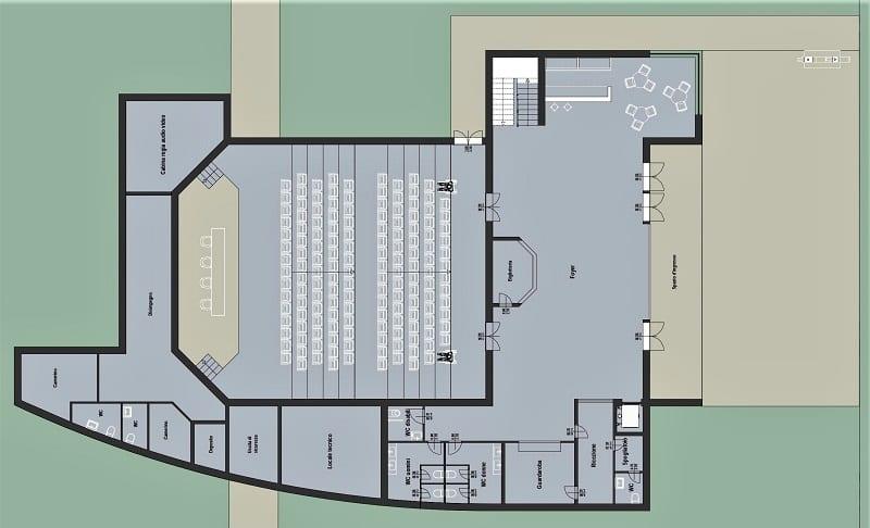progetto auditorium, pianta
