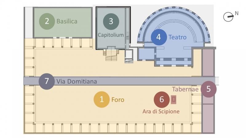 Parco archeologico di Liternum, planimetria
