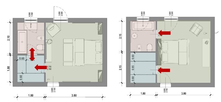 baogno in camera con cabina armadio