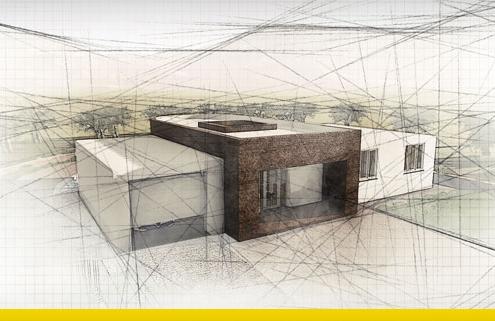 Immagine a colori che mostra la copertina con la facciata principale del progetto di una villa singola su un piano