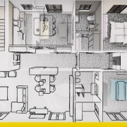 progetto di ristrutturazione di un appartamento