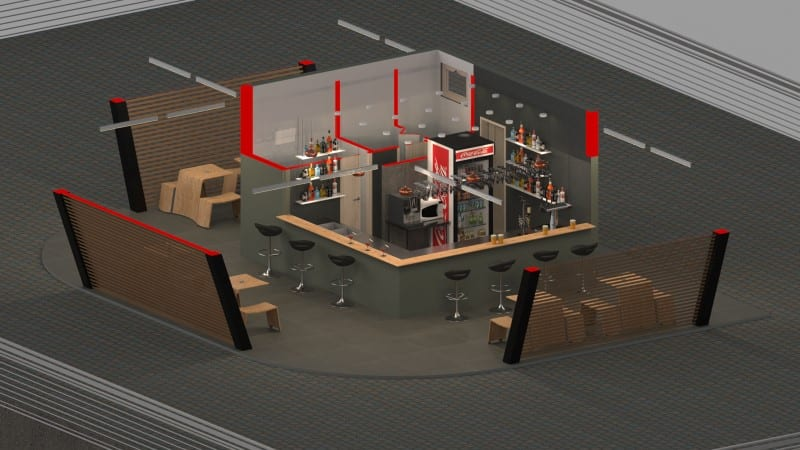 progetto di un chiosco bar