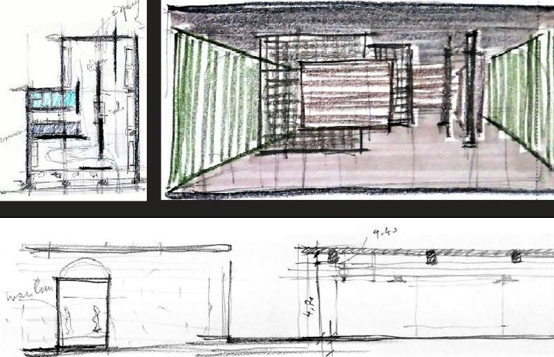 negozio di abbigliamento - concept design