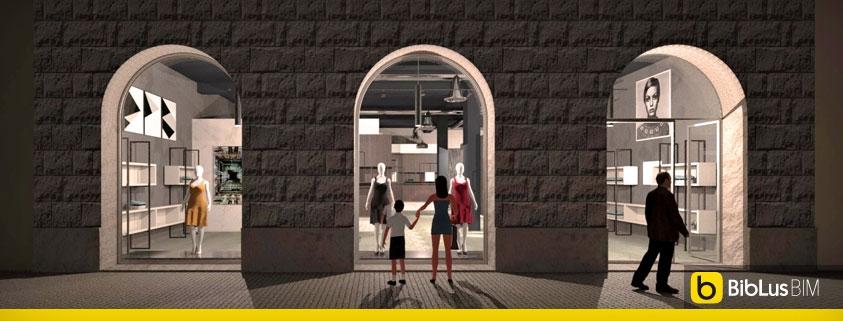 progetto di un negozio di abbigliamento