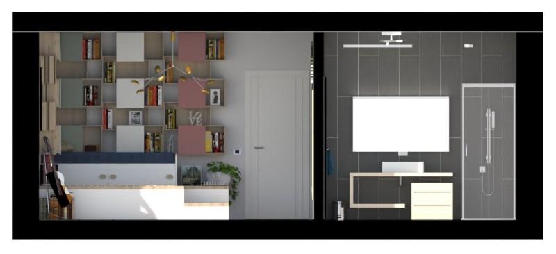 Render foto realistico che mostra una camera da letto per ragazzi singola in sezione