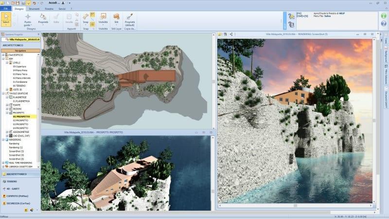 Elaborati grafici realizzati con Edificius, il software BIM per l'architettura