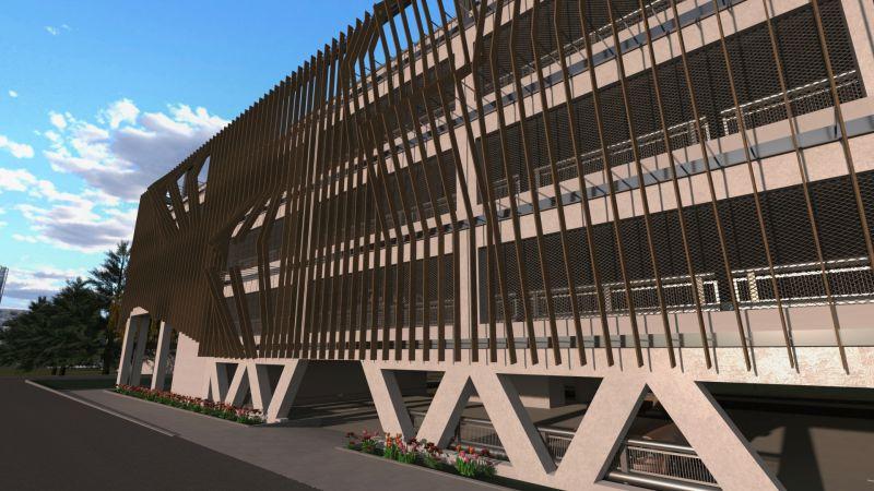 Parcheggio multipiano | render realizzato con Edificius