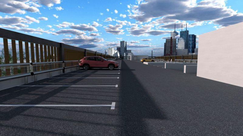 Progetto di parcheggio multipiano - Render realizzato con Edificius