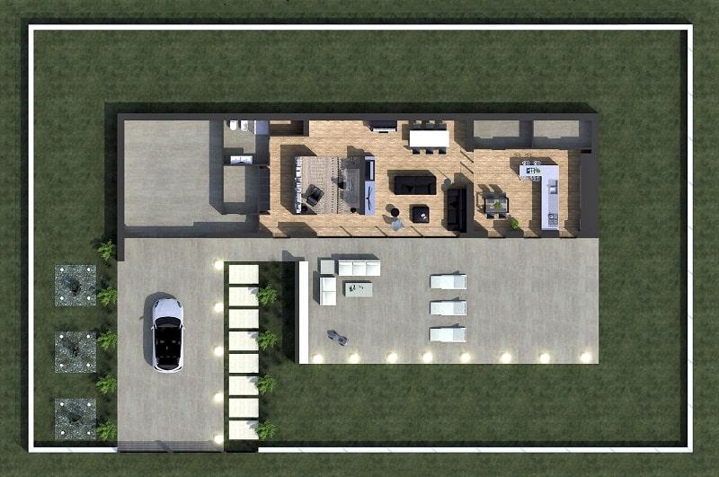 Immagine a colori che riporta un esempio di un progetto realizzato con il Piano casa
