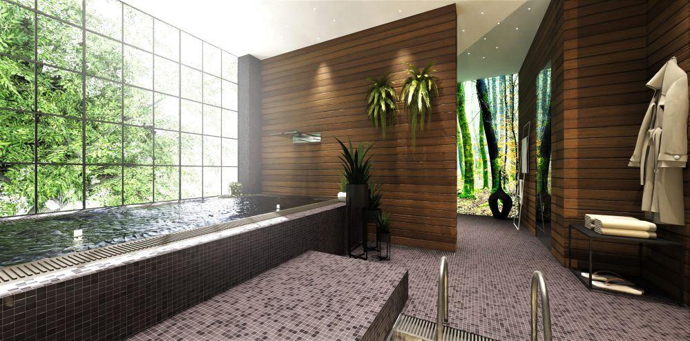 render fotorealistici realizzati con Edificius - sauna