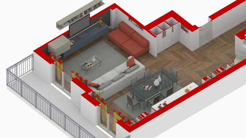 ristrutturazione appartamento - spaccato salone