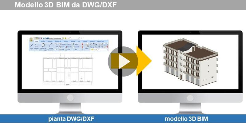 Modello 3D BIM da un DWG-DXF