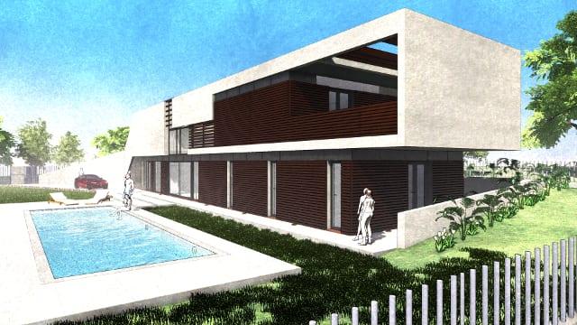 Giardino con piscina - Casa Roncero