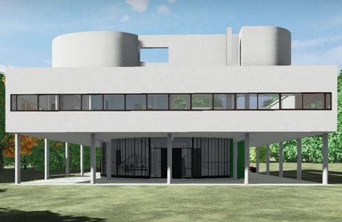 Villa Savoye Le Corbusier Edificius BIM