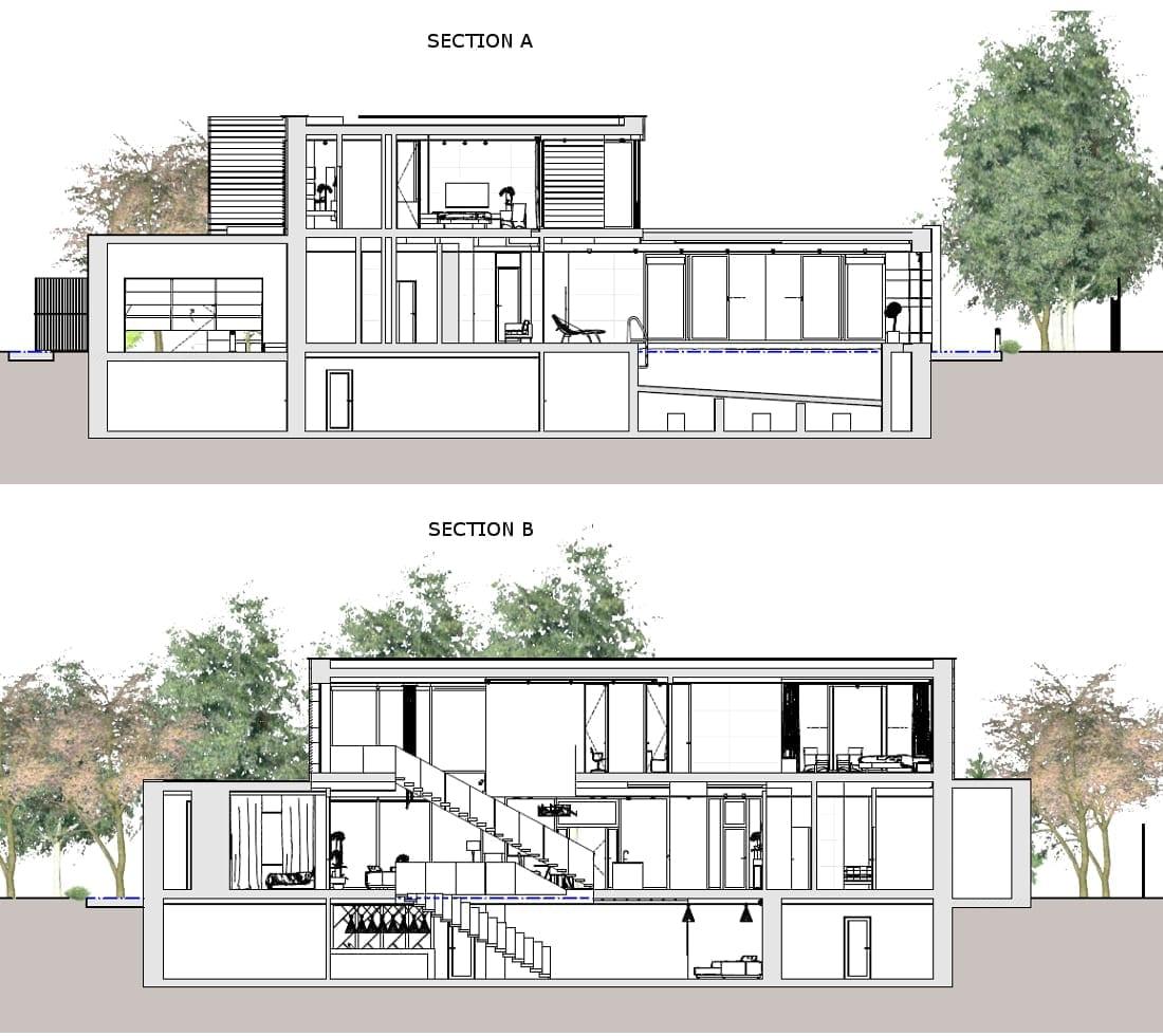 Sezioni Country House in Marfino_Edificius