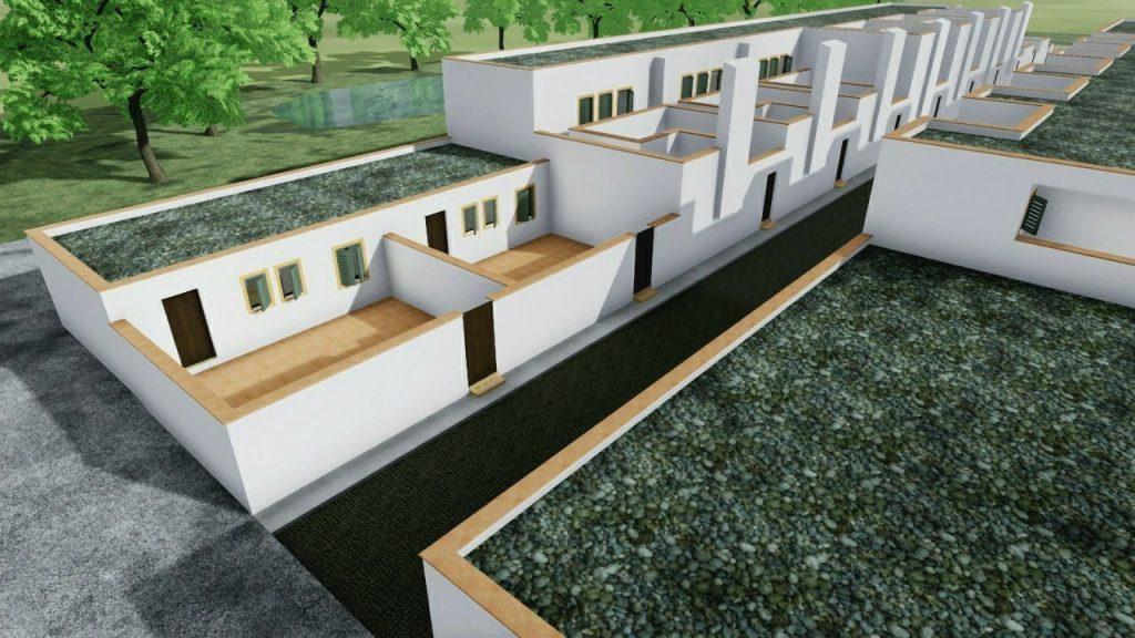 case a schiera di architetti famosi Quartiere-Malagueira-opera-di-Alvaro-Siza-modello-riprodotto-con-Edificius