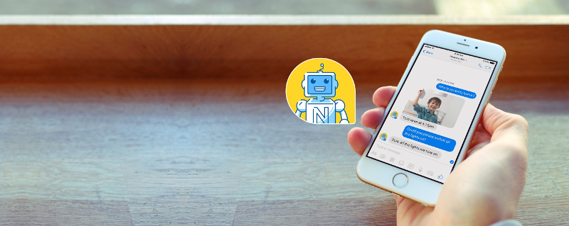 La chat di Netatmo Smart Home Bot