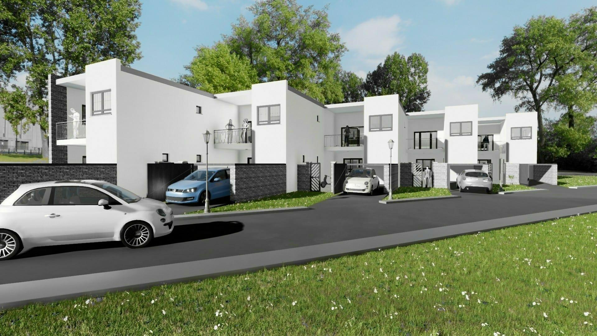 Progetti di case a schiera con patio o giardino: esempi e ...