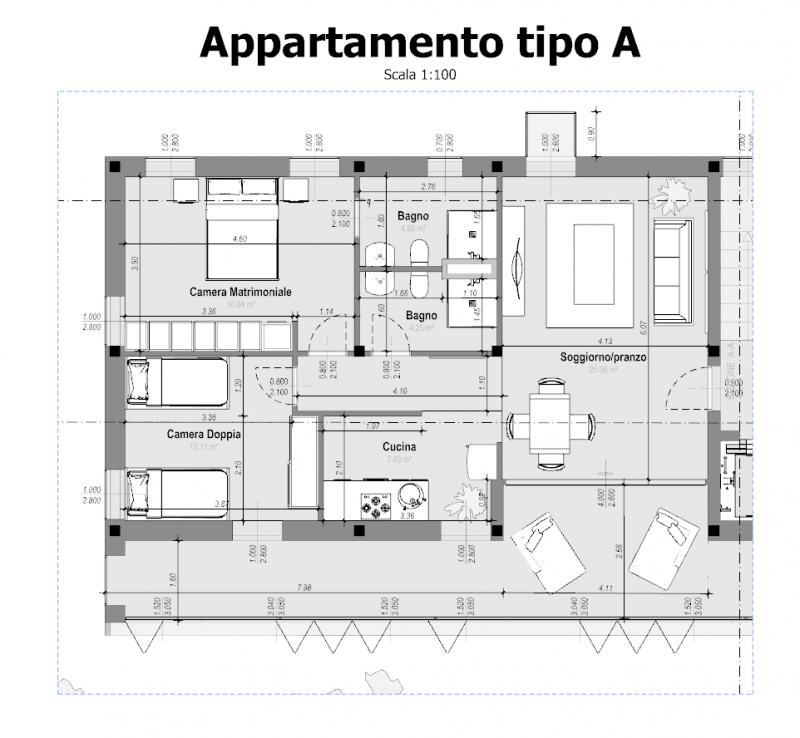 Case in linea, progetti e esempi con piante, planimetrie, disegni  BibLus-BIM