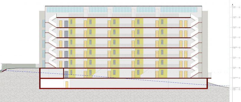case a ballatoio a-Terrassa-sezione