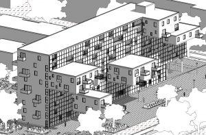 case-a-ballatoio-WoZoCo-Apartments-assonometria-anteriore