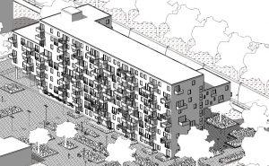 case-a-ballatoio-WoZoCo-Apartments-assonometria-posteriore