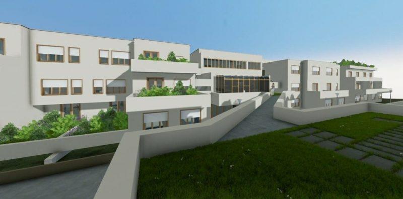 case in linea - Villaggio Matteotti, opera di Giancarlo De Carlo - rendering