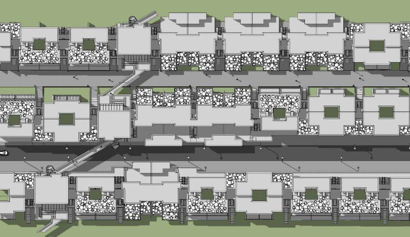 case in linea Villaggio Matteotti - De Carlo - planimetria