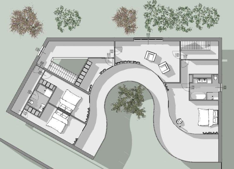 case-unifamiliari-di-architetti-famosi-casa-kwantes-pianta-piano-primo