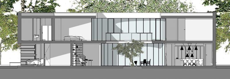 case-unifamiliari-architetti-famosi-casa-kwantes-sezione B-B
