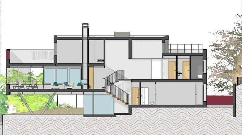 progetti di case unifamiliari sezioni