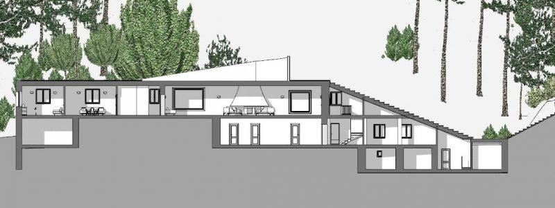 Villa Malaparte - sezione A-A
