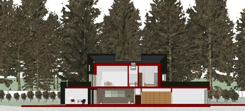 progetti case unifamiliari - sezione