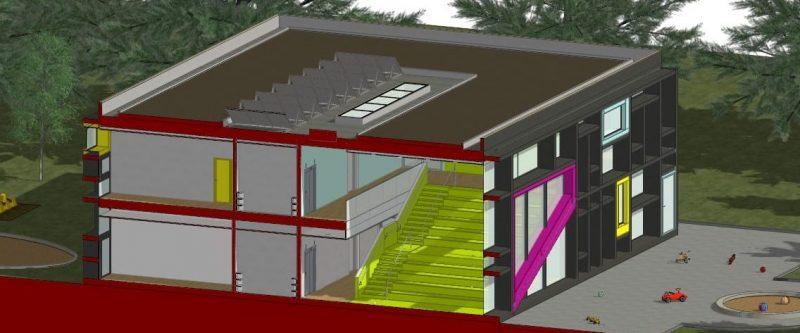 progetti edifici scolastici - spaccato