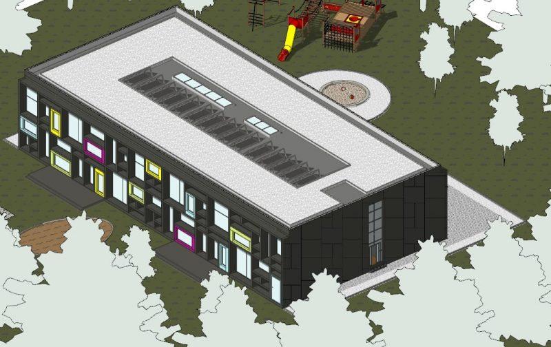 progetti edifici scolastici - assonometria