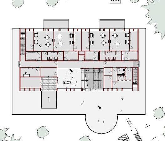 progetti edifici scolastici - pianta