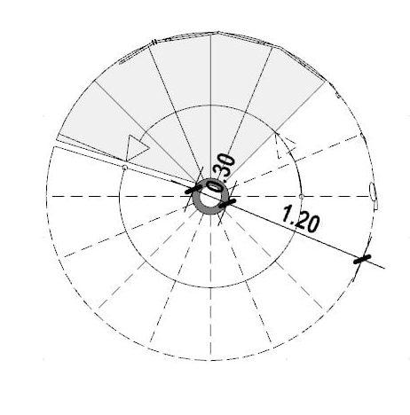Progettazione scale interne-Scala a chiocciola
