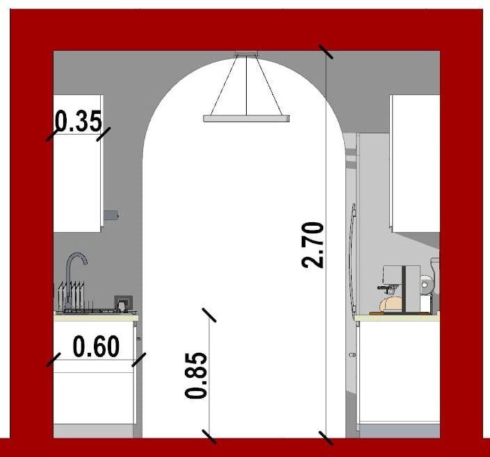 come progettare una cucina_sezione cucina lineare doppio