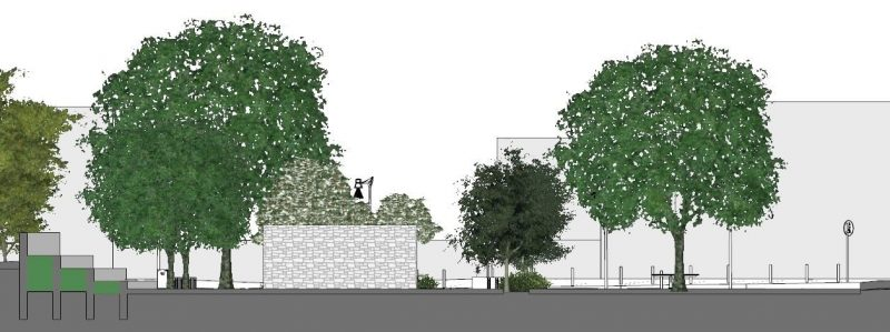 Progetto di arredo urbano -Sezione b-b