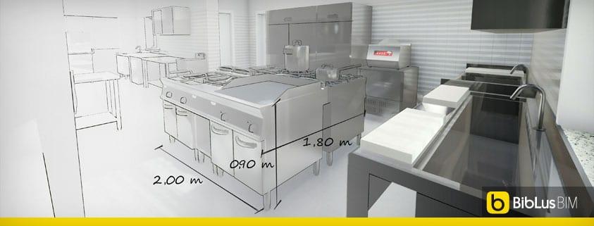 Progetto Di Una Cucina Per Ristorante Con Norme E Dwg Biblus Bim