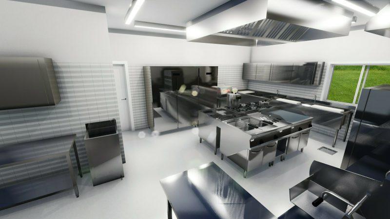 progetto di una cucina per ristorante 2