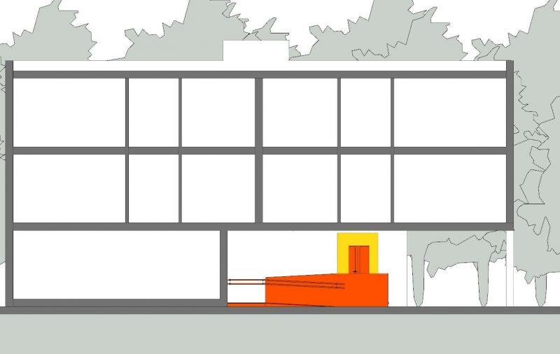 Abbattimento delle barriere architettoniche - Sezione A-A