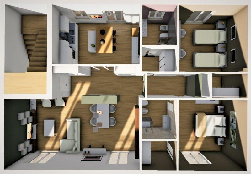 progetto di ristrutturazione di un appartamento _ dopo
