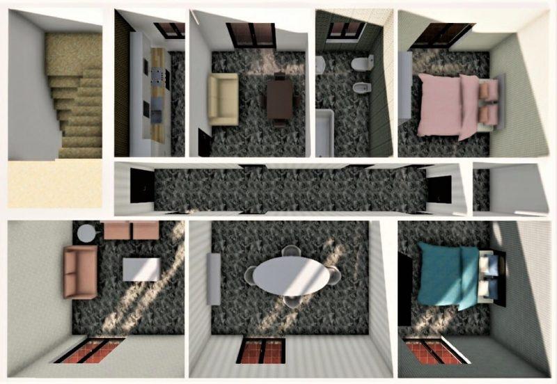 progetto di ristrutturazione di un appartamento _ prima