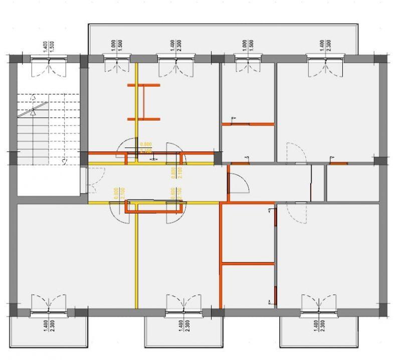 Progetto di ristrutturazione di un appartamento pianta stato di confronto