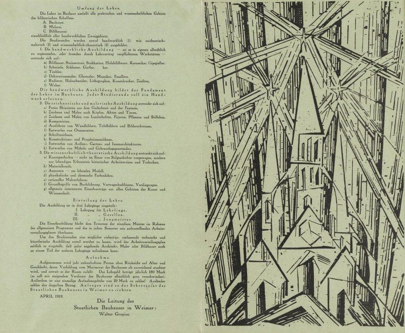 storia del bauhaus - manifesto