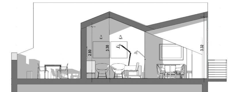 Progetto di recupero di un sottotetto - sezione-a-a