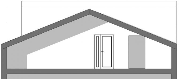 Progetto di recupero di un sottotetto -sottotetto non abitabile-sezione