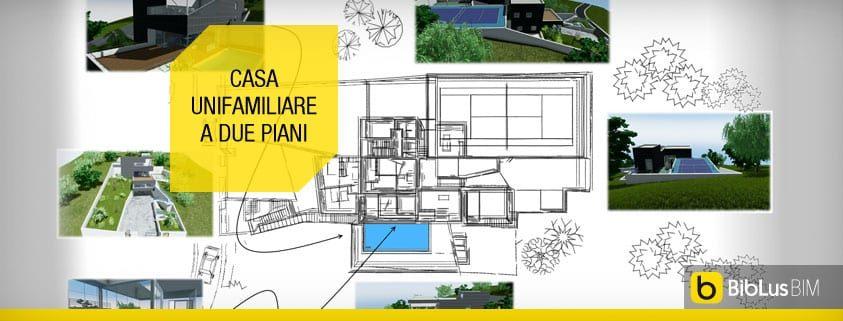 Ecco Un Progetto Di Casa Unifamiliare A Due Piani Completo Di Dwg Da Scaricare Biblus Bim