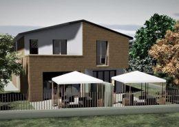 Casa bifamiliare | Vista lato sud